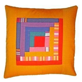 Patchwork Cushion Cover - Samburu Orange