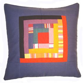 Patchwork Cushion Cover - Shimoni Blue