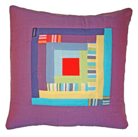 Patchwork Cushion Cover - Diani Raspberry