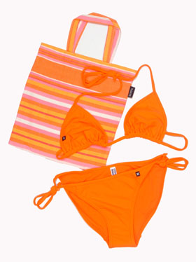 String Bikini - Tatu Orange