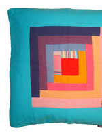 Patchwork Cushion Cover - Diani Turquoise