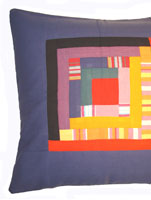 Patchwork Cushion Cover - Shimoni Blue