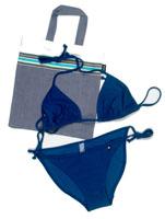 String Bikini - Tatu Blue
