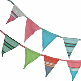 Bunting one string of eight pennants