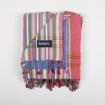 Beach Towel Red Stripe Pale