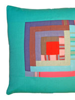 Patchwork Cushion Cover - Diani Jade