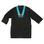 Kaftan Top - Black Muslin - Diani Turquoise