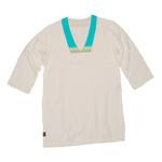 Kaftan Top - White Muslin - Tatu Turquoise